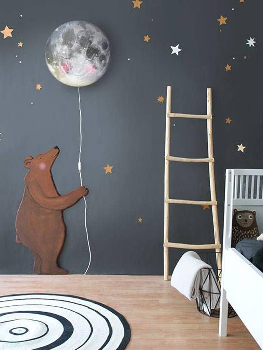 Интерьер детской с ночным небом