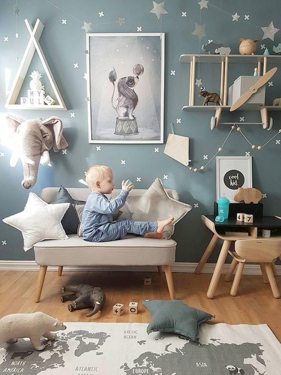 Детская комната со звездами