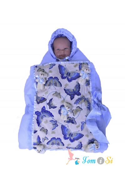 Одеяло 2 в 1 на выписку Мишки