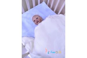 Одеяло 2 в 1 на выписку белое