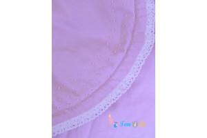 Одеяло 2 в 1 на выписку розовое