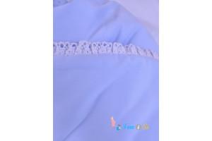 Одеяло 2 в 1 на выписку синее