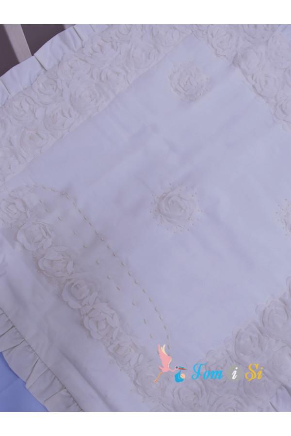 Одеяло в коляску Зефир молочный