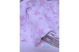 Плед трехслойный Звездочки розовый