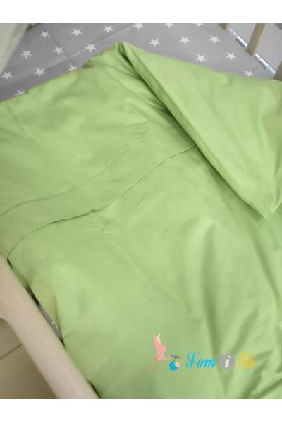 Пододеяльник зеленый сатин