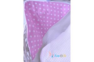 Полотенце вафельное розовый горшок