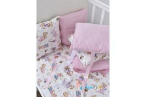 Постельное белье розовые мишки