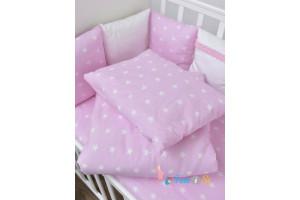 Постельное белье розовые звезды