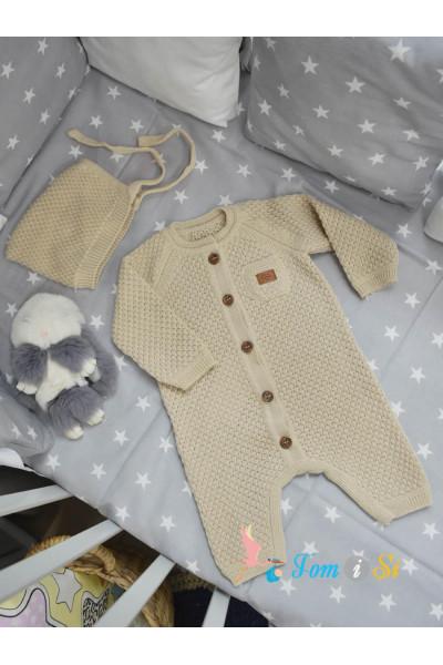 Вязаный комбинезон для новорожденных Michelle