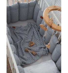 Вязаные бортики в кроватку Morphey