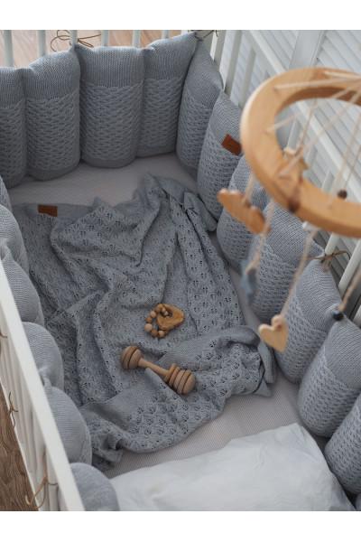 Бортики в кроватку Morphey Серебро