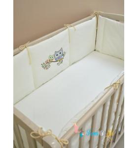 Бортики с вышивкой в кроватку