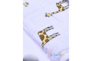 Пеленка для пеленания на кнопках из муслина Jungle Jam Giraffe