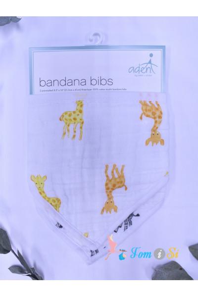 Слюнявчик-бандана с жирафами