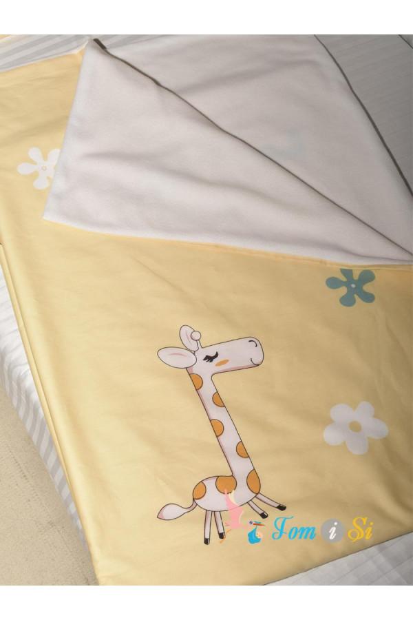 Плед двухсторонний Жираф