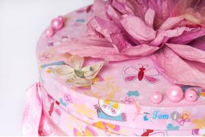 Подарочная коробка розовая