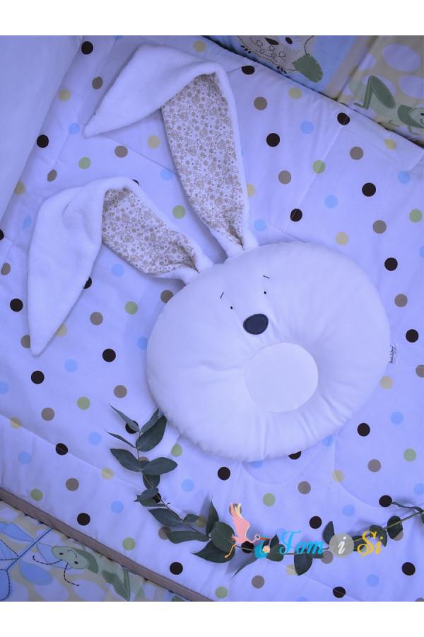 Подушка для новорожденных Зайка