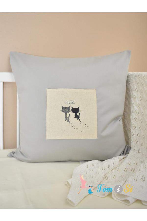 Декоративная подушка Котики