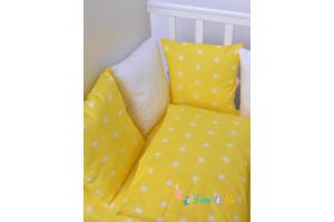 Постельное белье желтые звезды