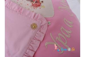 Комплект конвертов на выписку розовый