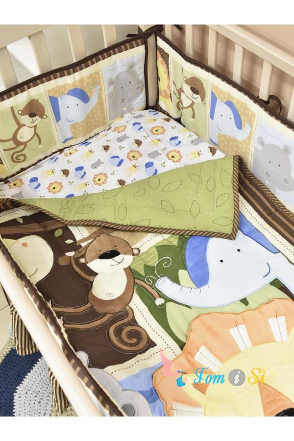 Постельное белье для новорожденных Джунгли