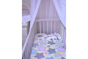 Простынь для детской кроватки